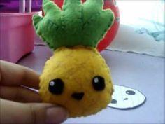 Pineapple plush tutorial/ tutorial peluche de ananá
