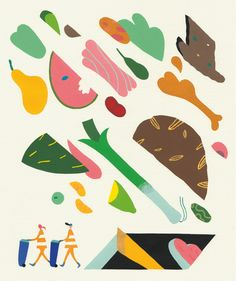 Editorial Illustrations 2012 by Leandro Alzate, via Behance