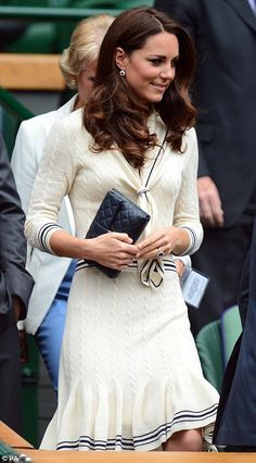 The Duchess of Cambridge in vintage-style Alexander McQueen at Wimbledon