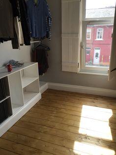 Walk in wardrobe room