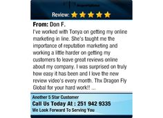 I've worked with Tonya on getting my online marketing in line...