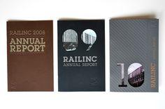Railinc Annual Report 2010  (Graphic Design, Print Design, Typography)  -By Nicole Kraieski
