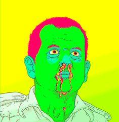 Bleeding Murray #Trippy #gif #billmurray