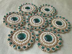 Indian Applique / Pearl Applique / Kundan Applique by Kalakruti, $4.00