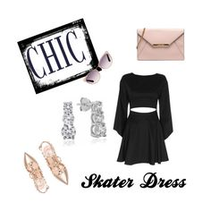 """Skater dress"" by mlgjewelry on Polyvore"