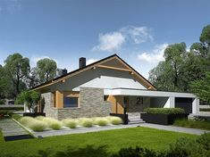 Daniel is a house designed for a family who appreciates the noble elegance, modern comfort and convenient connections and. Modern Architecture House, Modern House Design, Style At Home, Single Storey House Plans, Modern House Floor Plans, 2 Bedroom House Plans, Farm Plans, Facade House, Design Case