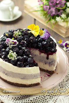 Cheesecake senza cottura ai mirtilli ricetta