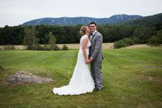 Beautiful view of the Sunday River Ski Resort from Sheila & Justin's Mountain House on Sunday River Maine Rustic Wedding photographed by Yeah Bud! Photography