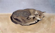 Oskar Tröndle (Swiss, 1883-1945) - Sleeping cat