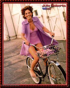 Julia Roberts #bicycle