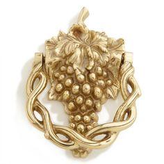 Grapevine Brass Door Knocker - Polished Brass