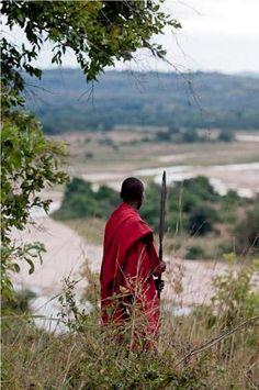 Masai tribesman in traditional dress