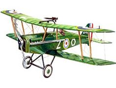 """The Guillows 1/14 British SE5-A is a balsa wood aircraft model kit from the range manufactured by Guillow.  The most famous British scout plane of World War 1. Designed and built by the Royal Aircraft Factory, 2,973 S.E. 5 and 5A machines had been delivered by October 1918. Mostly employed on the western Front, the balance were used in training units in Great Britain.    Wingspan: 24""""  Age: 12"""
