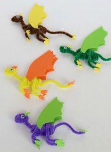 knutsel een draak van chenilledraad