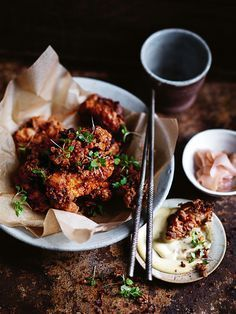 crispy miso and ginger fried chicken with miso mayonnaise / donna hay magazine winter issue 81