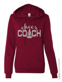 CHEER COACH -- This Independent Trading Company Heavenly Fleece Lightweight Pullover is the perfect option for games and practices! Choose your sweatshirt style, color, and glitter color. ADD IN NOTES