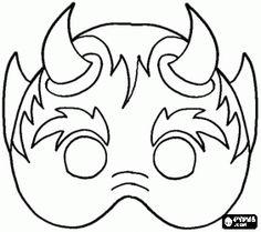halloween - Page 8 Scary Halloween Masks, Halloween Drawings, Halloween Pictures, Halloween Projects, Mascaras Halloween, Black Art Tattoo, Kindergarten Art Projects, Halloween Coloring Pages, Arts And Crafts