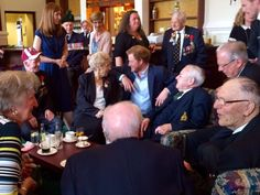 Great Camaraderie at Southwick House as Prince Harry meets D-Day vets before they head to France.