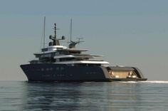 Luxury yacht X-Ballet concept - aft view