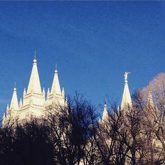 #Temple #square #rising. #slc #Utah