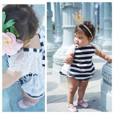 fba4f7be2c00 Cute Infant kids sleeveless Romper Baby Girls Romper Lace Striped Outfits  Sunsuit Clothes 0 24M-in Rompers from Mother   Kids on Aliexpress.com