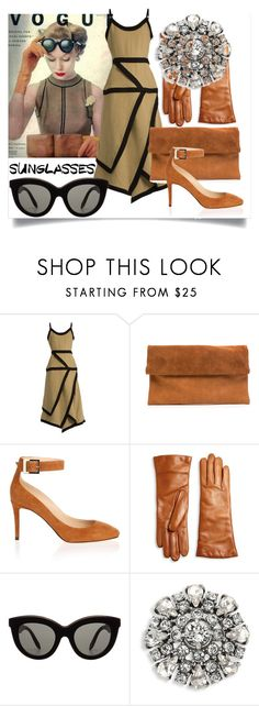 """""""Vintage Love: Retro Sunglasses"""" by m-illumino-di-glamour ❤ liked on Polyvore featuring J.W. Anderson, Jimmy Choo, Saks Fifth Avenue Collection, Victoria Beckham, Marc Jacobs and vintage"""