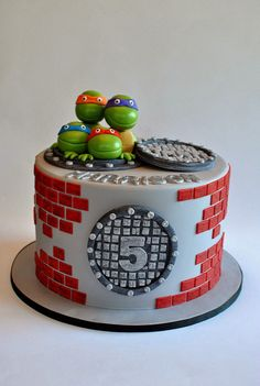 TMNT Cake, Teenage Mutant Ninja Turtles, Hope's Sweet Cakes, hopessweetcakes.com