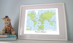 A World to Discover - Custom World Map Poster $AU36 http://downthatlittlelane.com.au/my-sweet-prints/product/535-a-world-to-discover-custom-world-map-poster