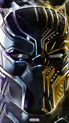 Black Panther and Erik Killmonger, faceoff, art, 720x1280 wallpaper