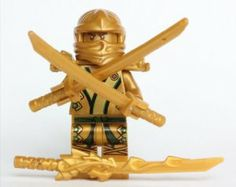 LEGO Ninjago - The GOLD Ninja - No Original Packaging by LEGO. $22.95. Includes Dragon Flame sword and dual gold swords.. From set 70503. Original packaging NOT included.. Figure is less than 2 inches tall, and was removed from a LEGO set and placed in ziploc bag.. Save 54% Off!