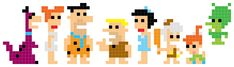 iotacons: The Flintstones - free cross stitch pattern? Melty Bead Patterns, Hama Beads Patterns, Cross Stitching, Cross Stitch Embroidery, Cross Stitch Patterns, Cross Stitch For Kids, Mini Cross Stitch, Cub Scout Crafts, Lego Mosaic