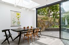 Granit Architects Rush Hill Road, Battersea Open dining space, link to garden