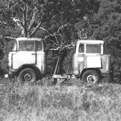 """""""Truck X 2"""" by Charlie Bookout - 2005 / digital black and white"""