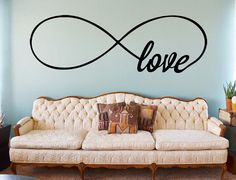 Infinity Love Wall Decal  Bedroom Wall Decals by JensVinylDecals, $19.99