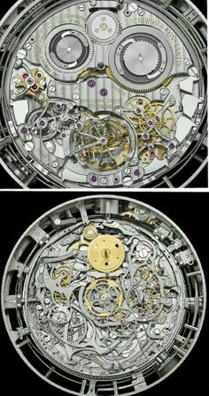 Vacheron Constantin's Reference 57260 Is The Most Complicated Portable Watch In The World - The case in white gold, double-sided displays; 98 x 50.55 mm Caliber: manually wound Caliber 3750, 71 x 36 mm, Seal of Geneva, 60 hours power reserve, 2,601 individual components, with pallet lever and escape wheel in diamond-coated silicon with diamond pallets within a tri-axial tourbillon Functions: 57 functions including hours, minutes seconds; perpetual Hebraic calendar, perpetual calendar…