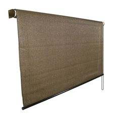 Coolaroo 96-in W X 72-in L Mocha Light Filtering Pvc Exterior Shade 454371