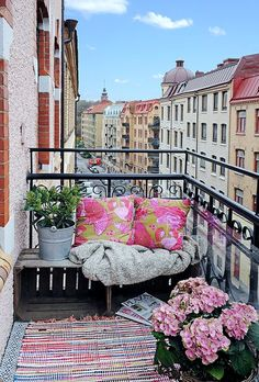 If you live in an apartment with a small balcony, don't despair! I have some ideas to turn it into a stunning oasis where you can drink your morning coffee and enjoy your free time.