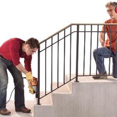 Safety First: Install an Outdoor Staircase Railing...DF this is for you ma man!!!