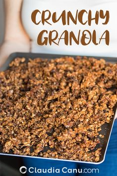 This almond butter granola is a very simple recipe to prepare, ideal for a sweet breakfast and perfect for a snack or a brunch. Healthy Sweet Snacks, Healthy Bars, Healthy Breakfast Recipes, Brunch Recipes, Breakfast Ideas, Healthy Recipes, Healthy Brunch, Healthy Breakfasts, Protein Snacks
