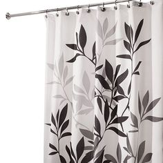 Leaves Fabric Shower Curtain $21