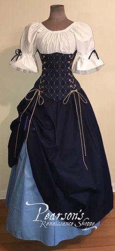 Bonnie Lass Ensemble - renaissance clothing, medieval, costume