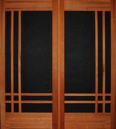 Screen doors from Studios. Fine crafted western cedar wood screen doors