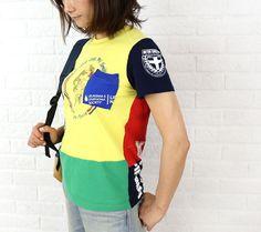 TIGRE BROCANTE(ティグルブロカンテ) コットン ReMIX POP 半袖 リメイク Tシャツ・TR-486  #TIGREBROCANTE