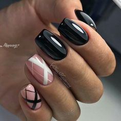 Here are some hot nail art designs that you will definitely love and you can make your own. You'll be in love with your nails on a daily basis. Fancy Nails, Love Nails, Pink Nails, Black Nails, Fabulous Nails, Gorgeous Nails, Pretty Nails, Manicure E Pedicure, Creative Nails
