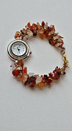 Carnelian beads Watch