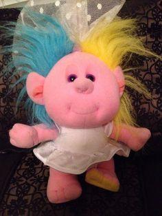 Vintage Playskool Hobnobbins Aunt Bridey Troll Doll Plush