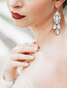 26 Trendy Statement Bridal Accessories You'll Love: Statement Earrings #bridalaccessories; #statementearrings