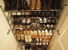 Shoe organization #shoes #closet #organized