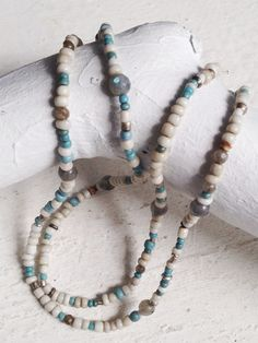 Image of #100359 - 'Gemstone Beach' Trail Mix Simple Layering Necklace
