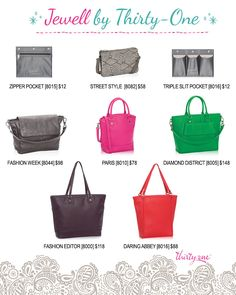 Jewell By Thirty One A Closer Look At All The Purse Options